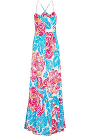 Barths floral-print silk maxi dress