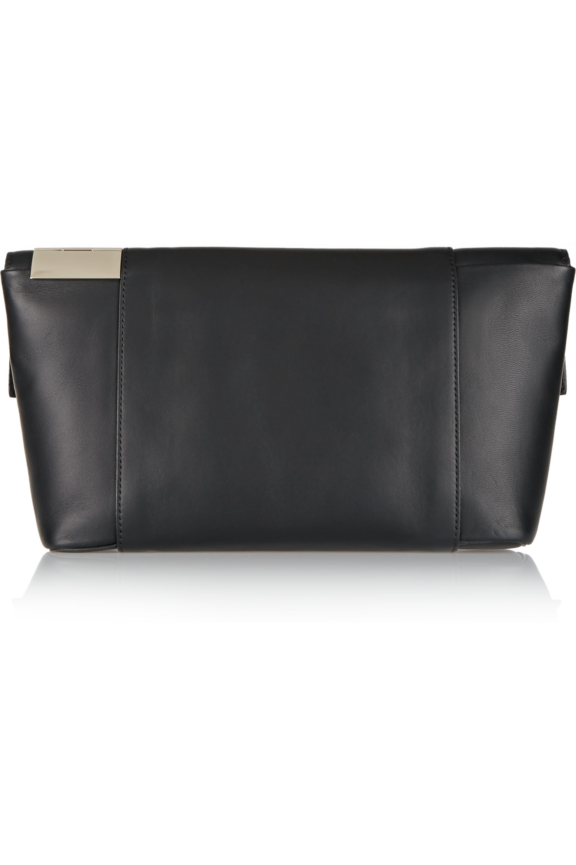 Victoria Beckham Folded Tallulah small leather clutch