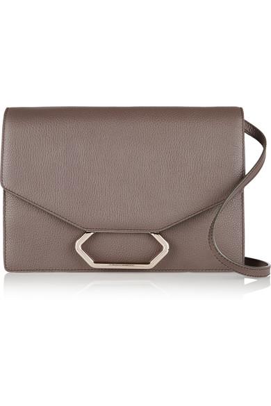 Victoria Beckham Money Clutch Textured Leather Shoulder Bag