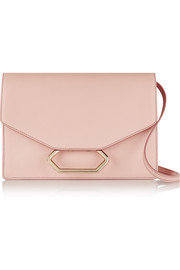Money Clutch textured-leather shoulder bag