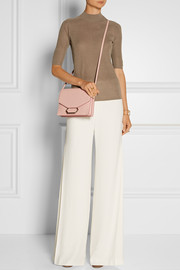 Victoria Beckham Money Clutch textured-leather shoulder bag