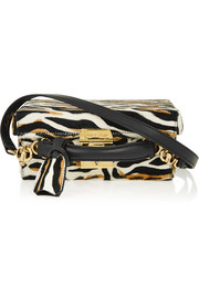 Grace small tiger-print calf hair shoulder bag