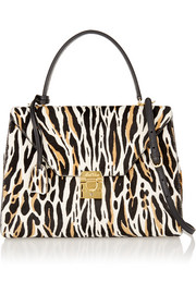 Hadley medium animal-print calf hair tote