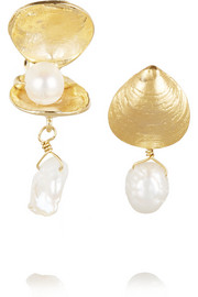 Profondo gold-tone pearl earrings
