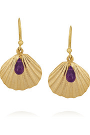 Riva gold-tone amethyst earrings