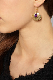 Rosantica Riva gold-tone amethyst earrings