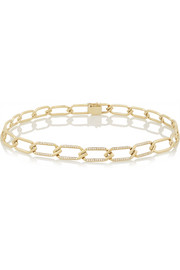 14-karat gold diamond choker