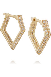 Wendy Nichol 14-karat gold diamond earrings