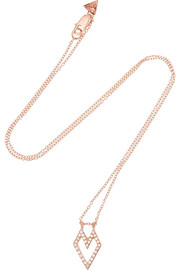 Wendy Nichol 14-karat rose gold diamond necklace