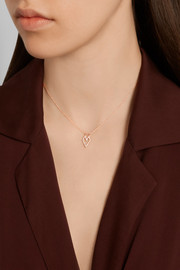 14-karat rose gold diamond necklace