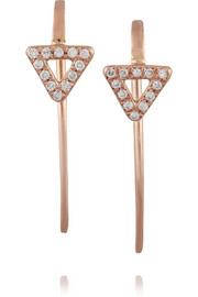 Wendy Nichol 14-karat rose gold diamond earrings