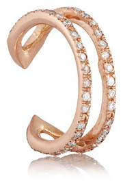 Wendy Nichol 14-karat rose gold diamond ear cuff