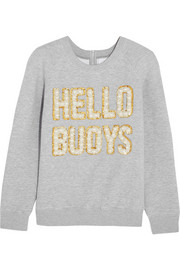 Hello Buoys embellished cotton-blend jersey sweatshirt