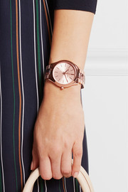 Runway rose gold-tone and acetate watch