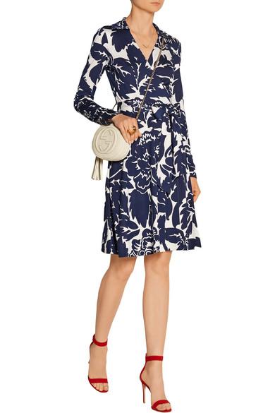 diane von furstenberg robe portefeuille en jersey de soie imprim net a porter com. Black Bedroom Furniture Sets. Home Design Ideas