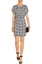 Diane von Furstenberg Jenna printed stretch-silk mini dress