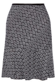Isabell printed stretch-silk crepe skirt