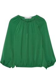 Hathaway silk-georgette top