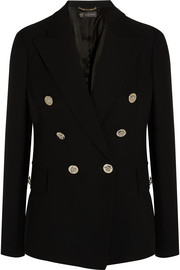 Versace Double-breasted silk blazer