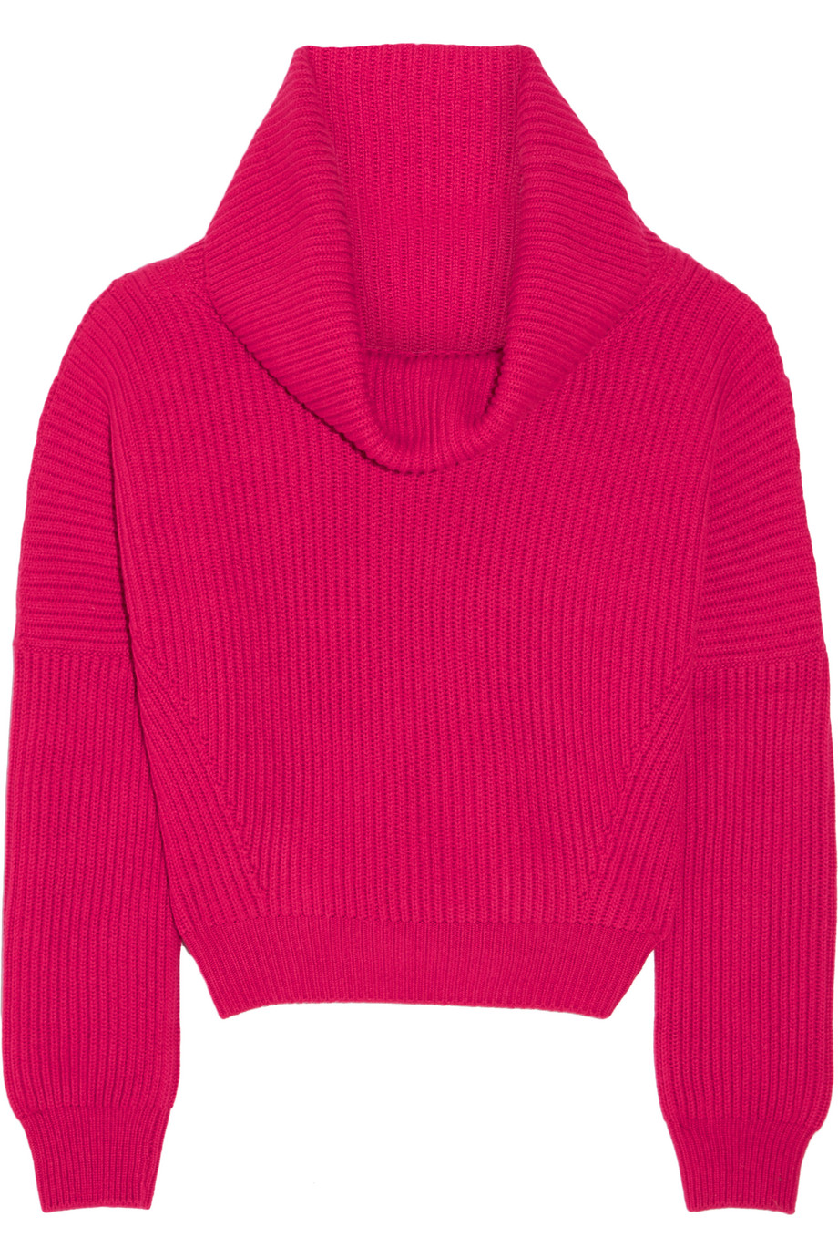 Tomas Maier Ribbed Cashmere Sweater, Fuchsia, Women's, Size: 8