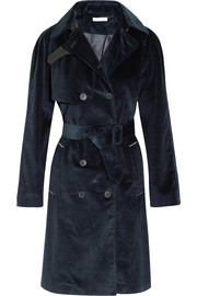 Cotton-corduroy trench coat