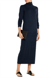 Merino wool sweater midi dress