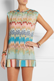 Missoni Open-back crochet-knit tunic