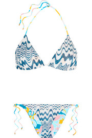 Isabella reversible crochet-knit triangle bikini