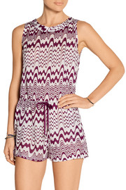 Missoni Isabella crochet-knit playsuit