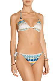 Missoni Elisabetta crochet-knit triangle bikini