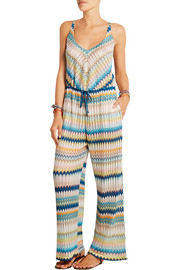 Missoni Elisabetta crochet-knit wide-leg jumpsuit