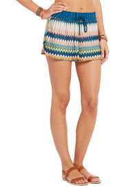 Missoni Cutout crochet-knit shorts