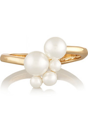 Kenneth Jay Lane Gold-plated faux pearl cuff