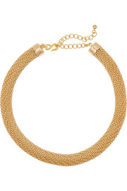 Kenneth Jay Lane Gold-plated tube choker