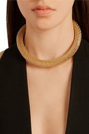 Gold-plated tube choker