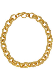 Kenneth Jay Lane Gold-plated chain necklace