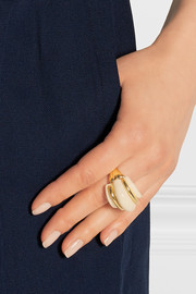 Gold-plated resin ring