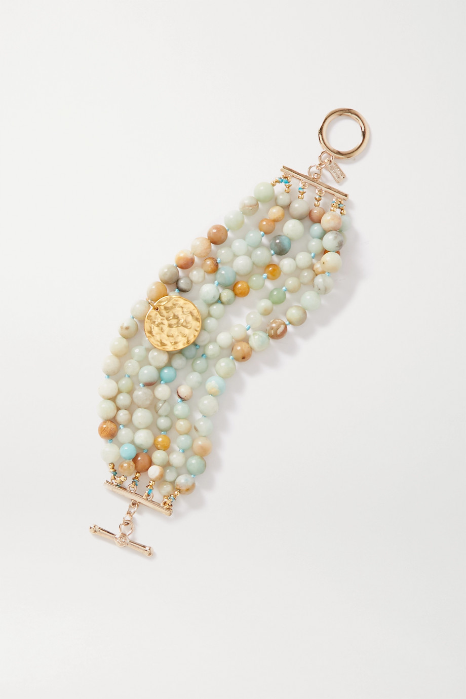 Kenneth Jay Lane Gold-plated beaded bracelet