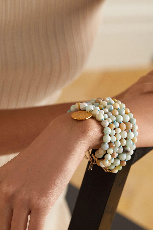 Kenneth Jay Lane Gold-plated beaded bracelet