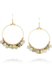 Gold-plated beaded earrings