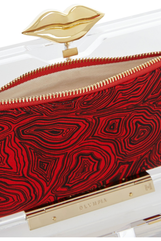 Charlotte Olympia Lippy Pandora Perspex clutch