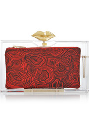 Charlotte Olympia Lippy Pandora Perspex clutch