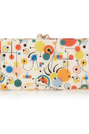 Charlotte Olympia Printed Pandora Perspex clutch