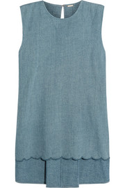 Adam Lippes Scalloped denim top