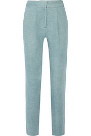 Adam Lippes Cotton-twill tapered pants