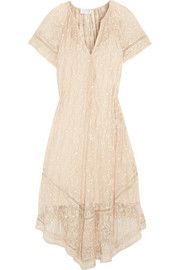 Nightmarch Vine embroidered silk-georgette dress