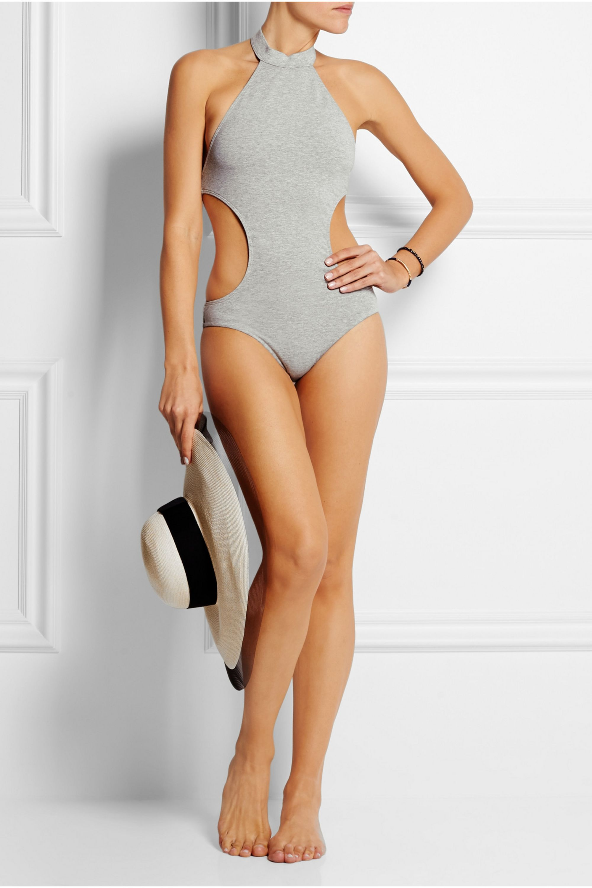 Zimmermann Hyper cutout stretch-cotton jersey swimsuit