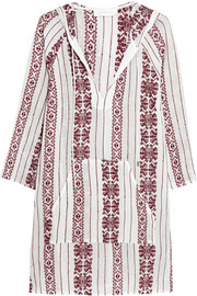Ryker embroidered cotton-muslin hooded dress