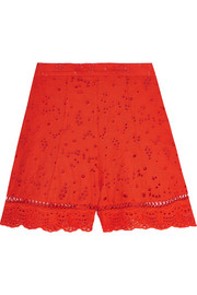 Marisol broderie anglaise cotton shorts