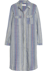 Marisol striped wool-blend shirt dress